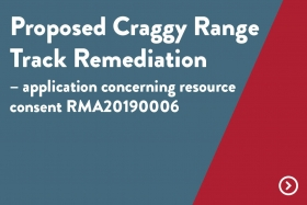 Proposed Craggy Range Track Remediation
